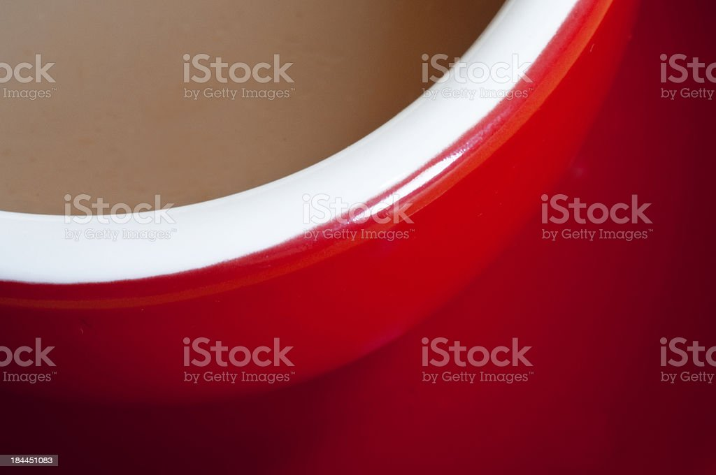 Red tea cup with red saucer royalty-free stock photo