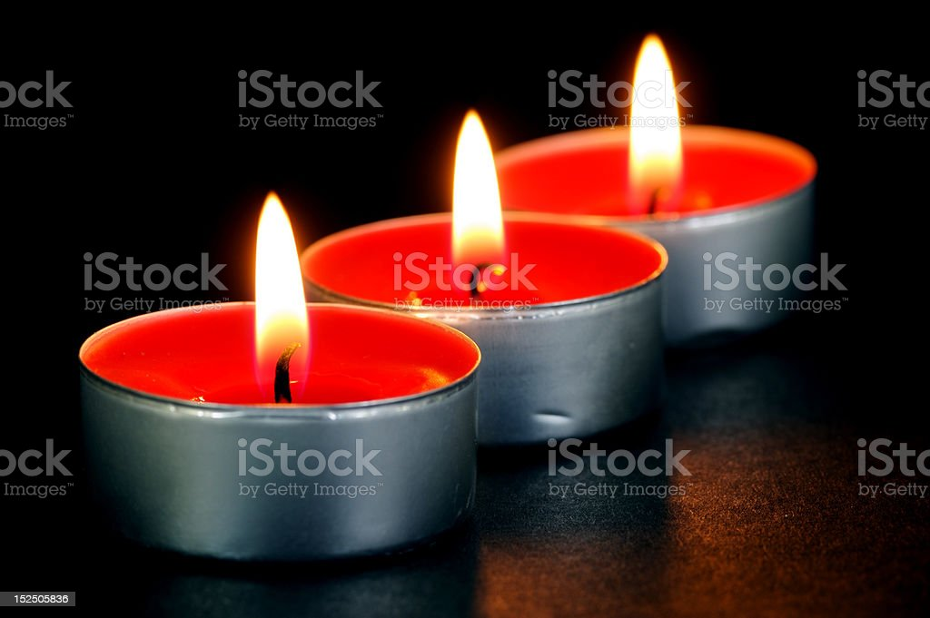 Red Tealight Candles royalty-free stock photo