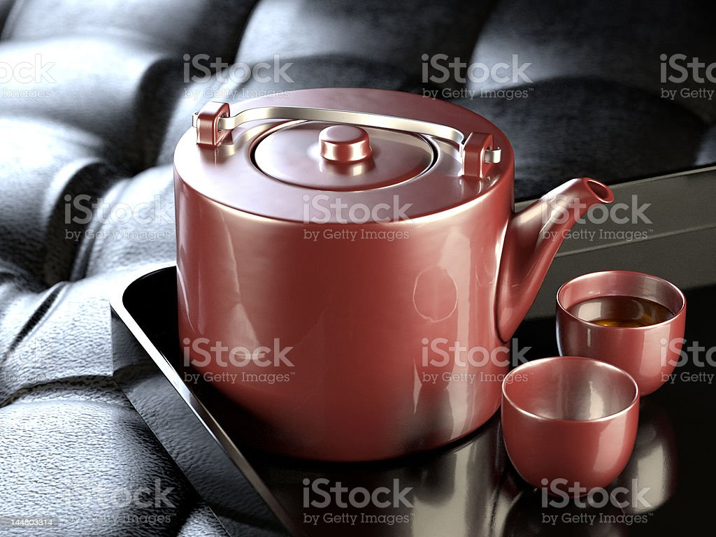 Red teapot luxury royalty-free stock photo
