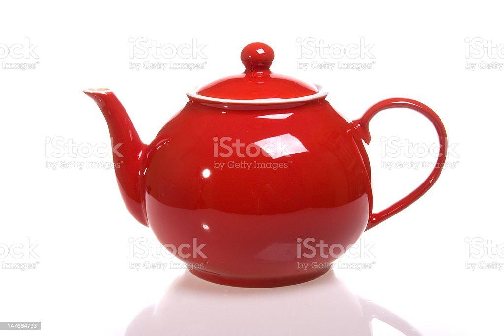red teapot stock photo