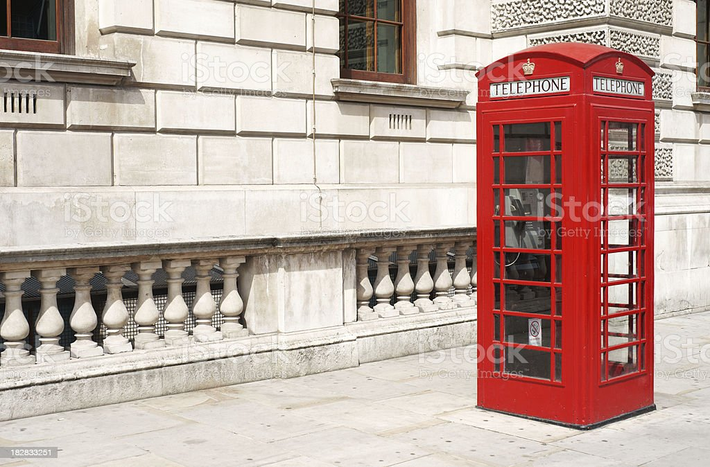 Red telephone booth in London royalty-free stock photo