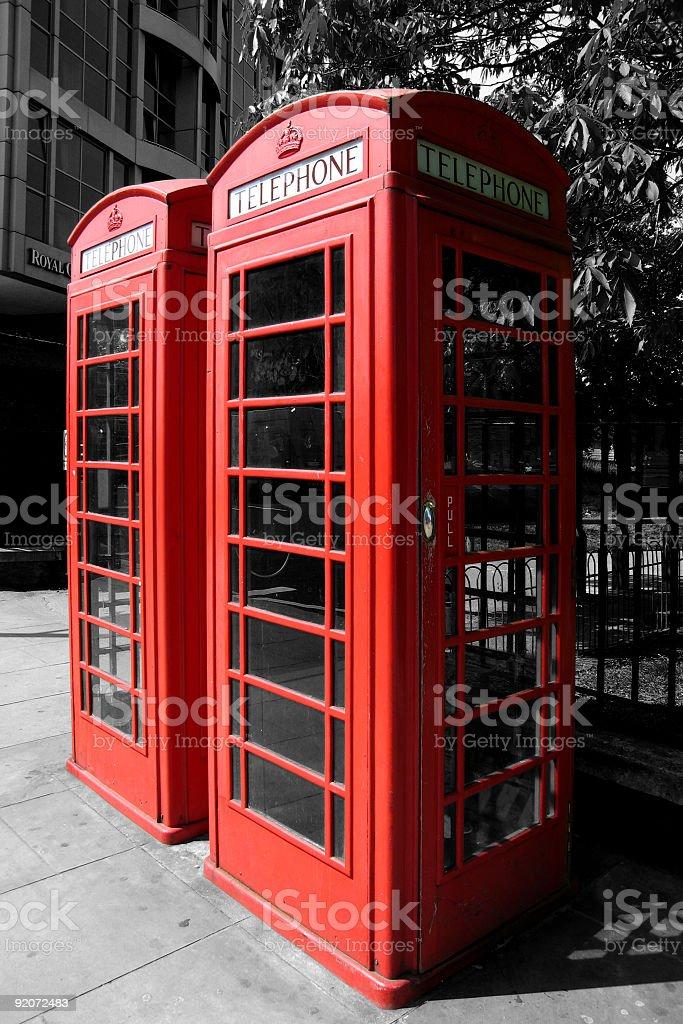 Rote Telefonzellen in London – Foto