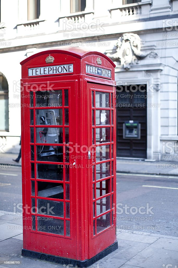 Red Telephone Box in London royalty-free stock photo