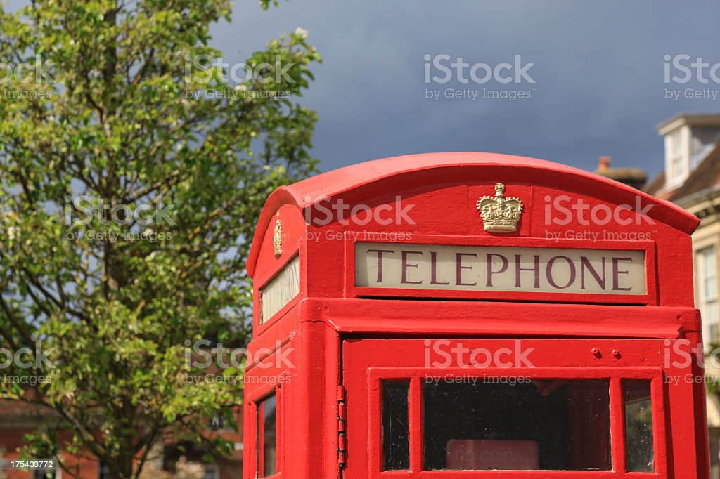 Red Telephone Box in London, United Kingdom royalty-free stock photo
