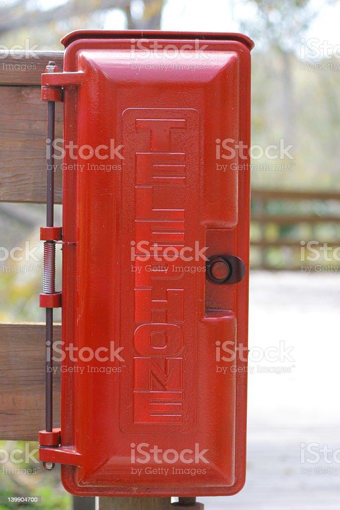 Red Telephone Box royalty-free stock photo