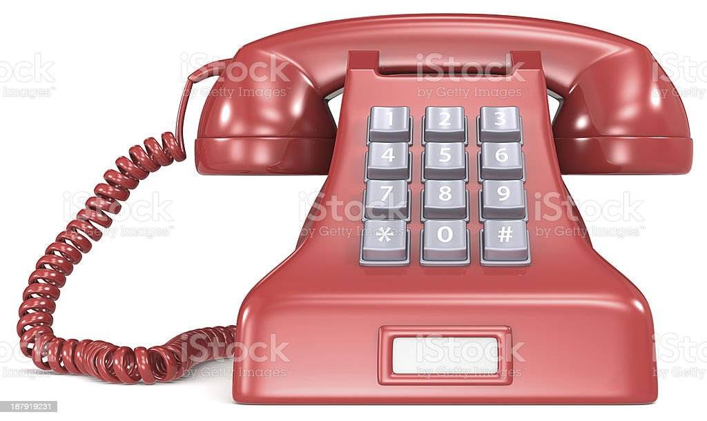 Red telephone. royalty-free stock photo