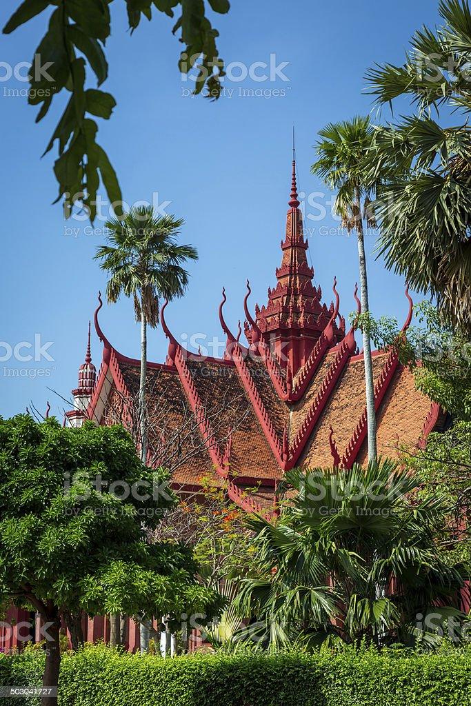 Red Temple in Phnom Penh, Cambodia stock photo