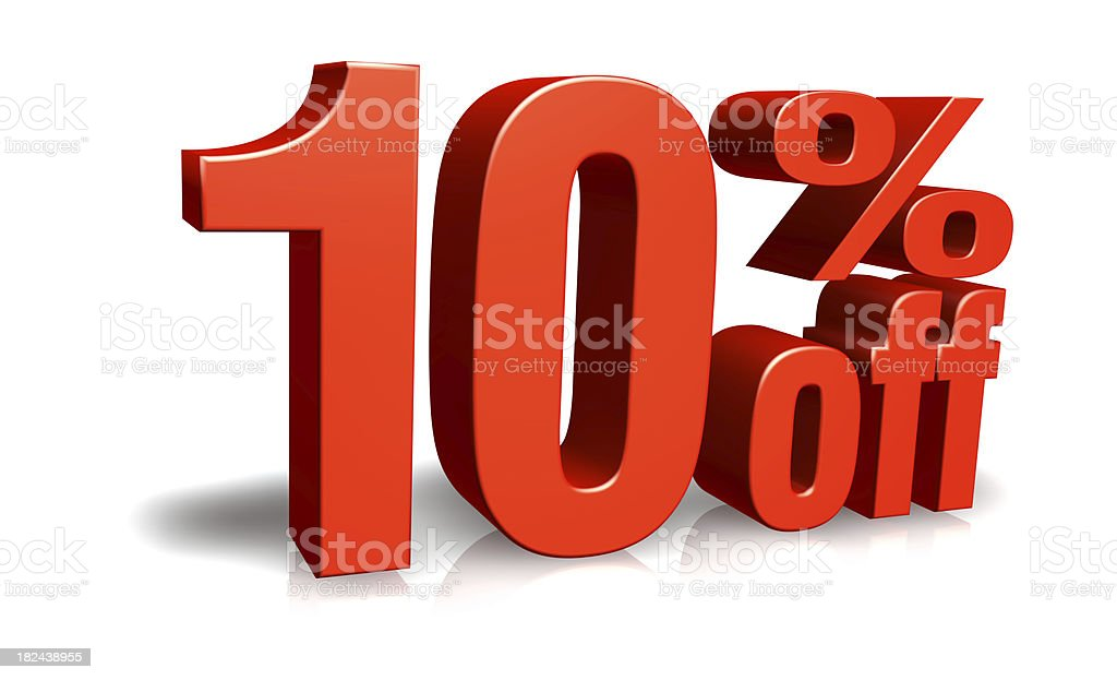 Red Ten Percent Off royalty-free stock photo