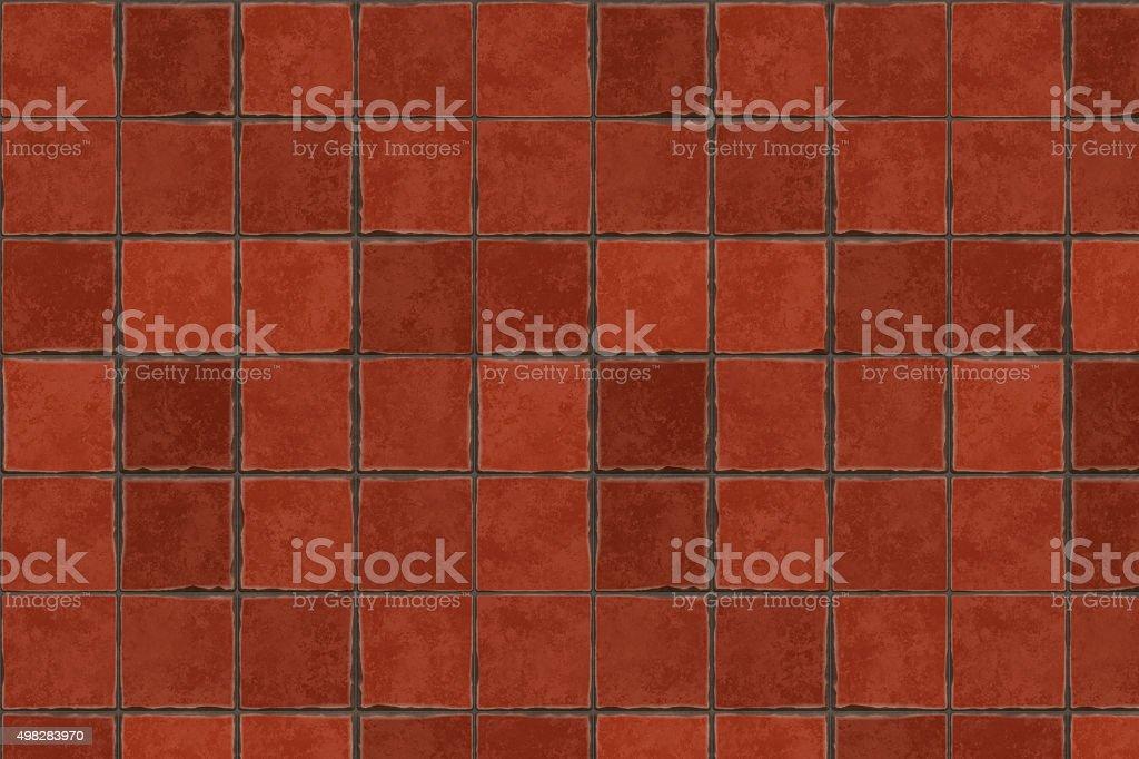 Red terracotta floor tiles stock photo