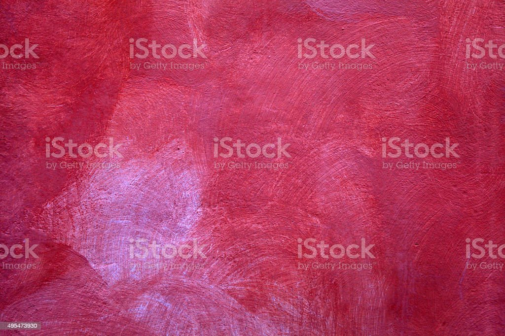 red texture of shabby paint plaster stucco background stock photo