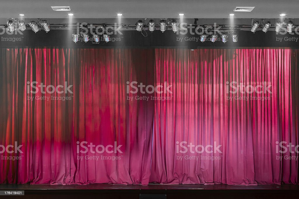 Red Theater curtain royalty-free stock photo