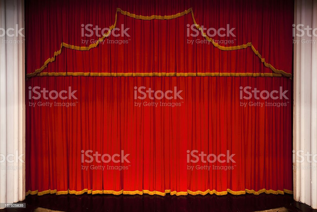 Red theater performance stage royalty-free stock photo