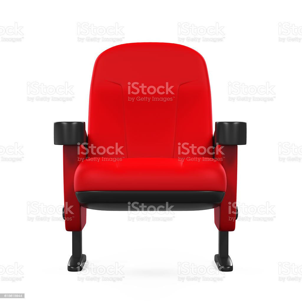 Red Theater Seat stock photo