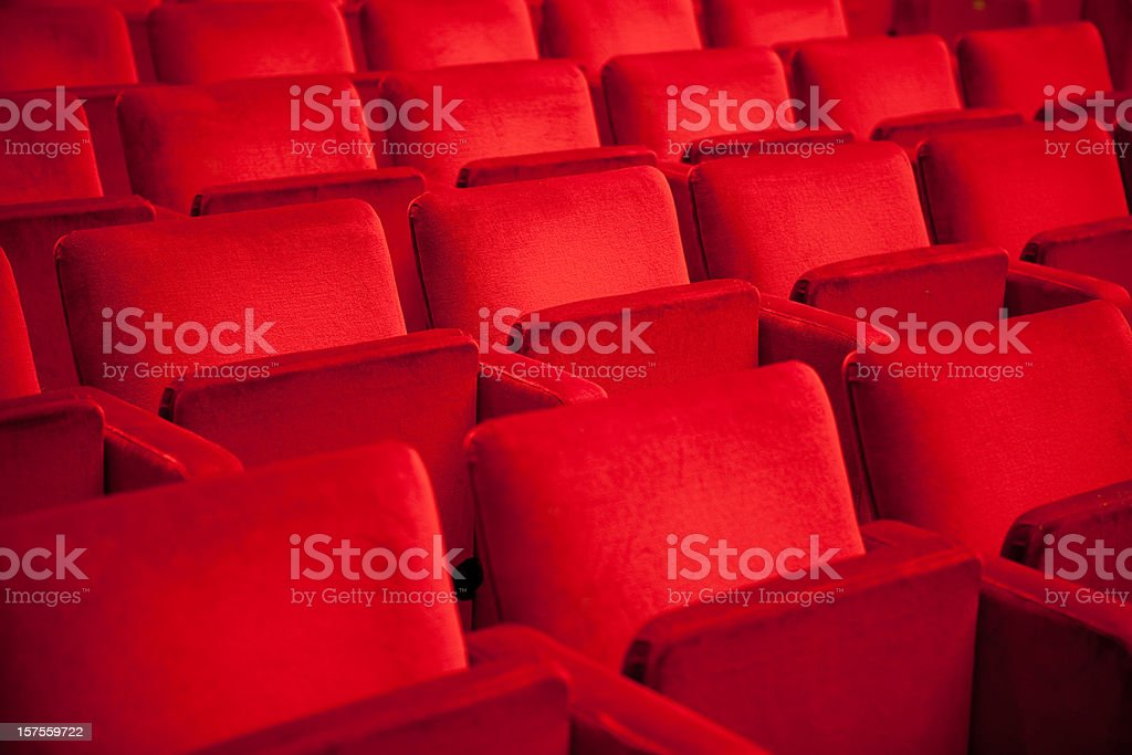 Red Theater Seats royalty-free stock photo