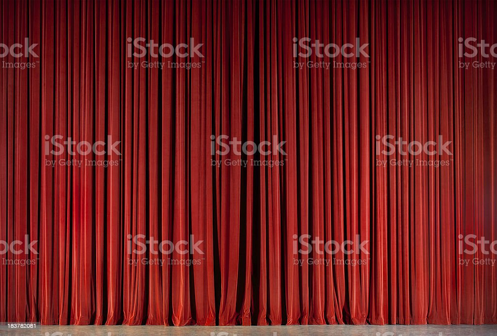 red theatre curtain royalty-free stock photo