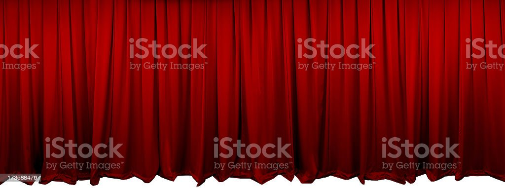 Red Theatre Curtains (XL) stock photo