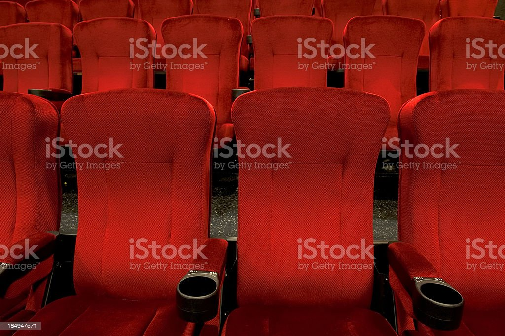 Red theatre seats royalty-free stock photo