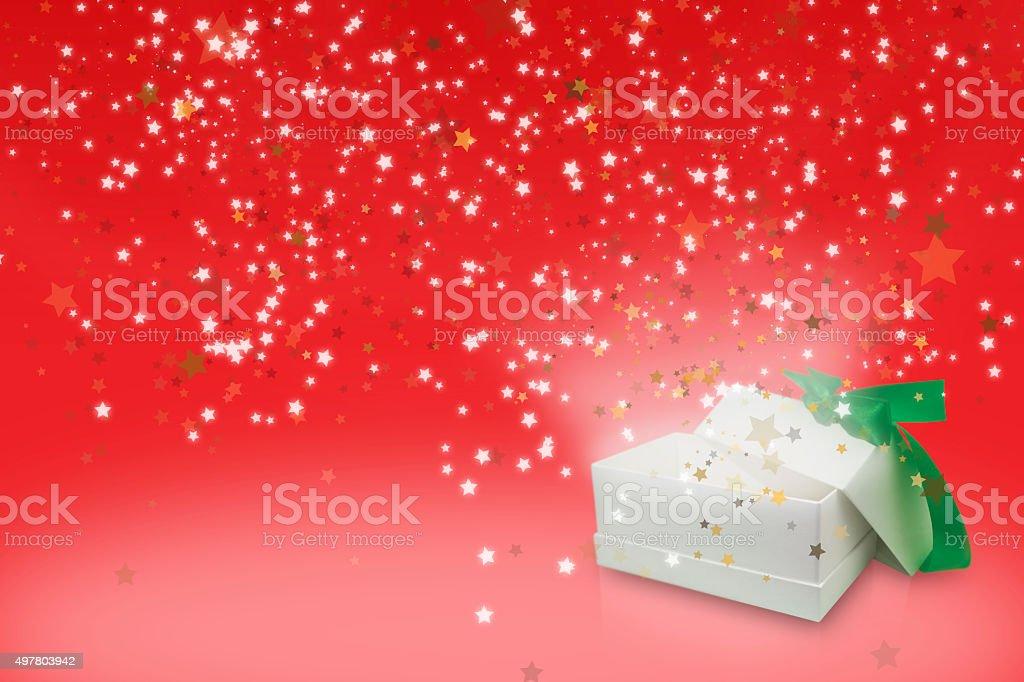 Rot Begrüßung seasons Sterne-box Lizenzfreies stock-foto