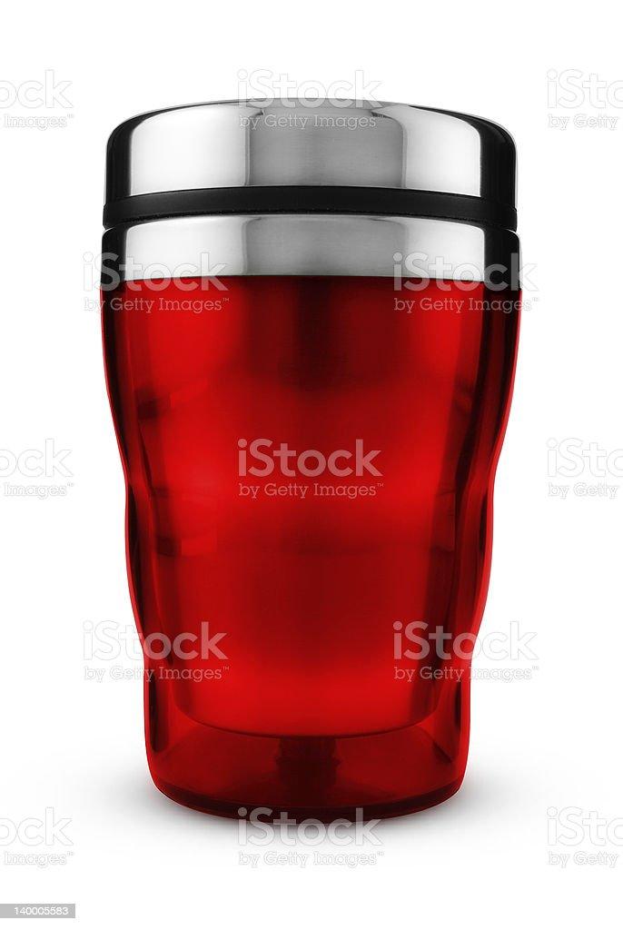 Red Thermic Mug royalty-free stock photo
