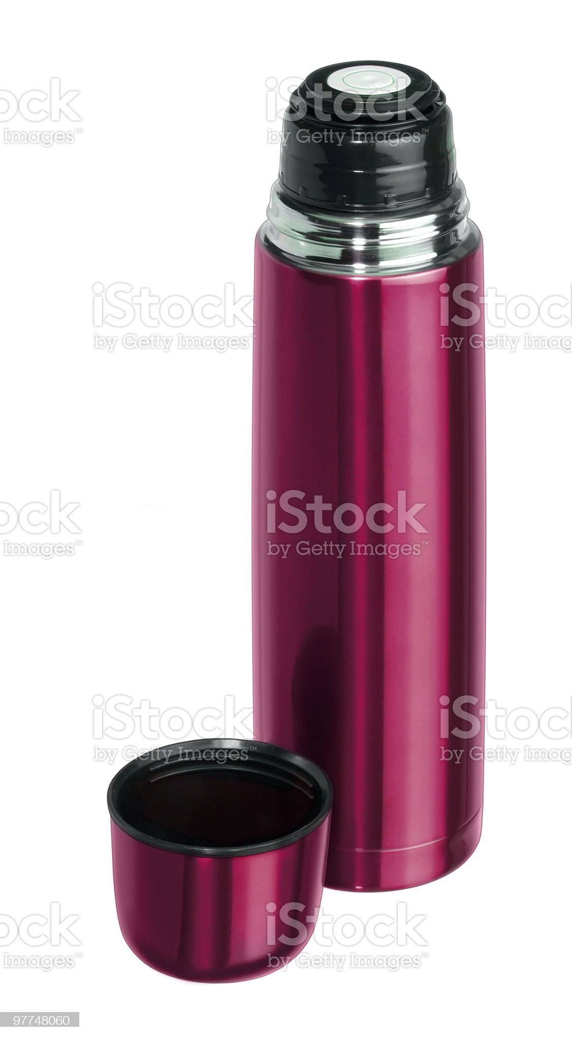 red thermos flask royalty-free stock photo