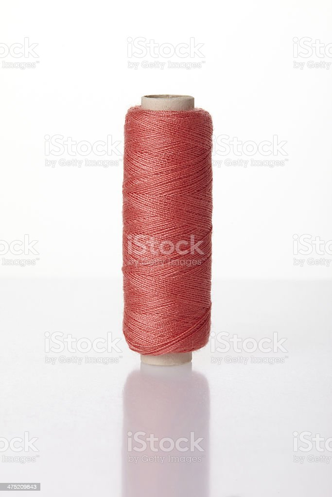 Red thread spools royalty-free stock photo