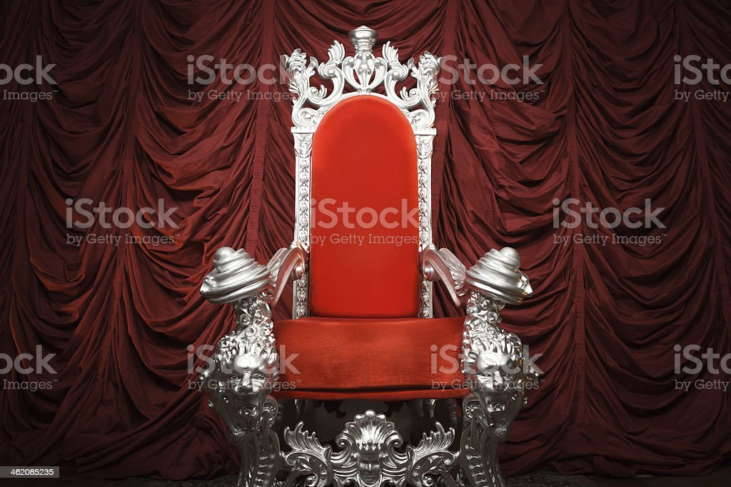 Red Throne stock photo