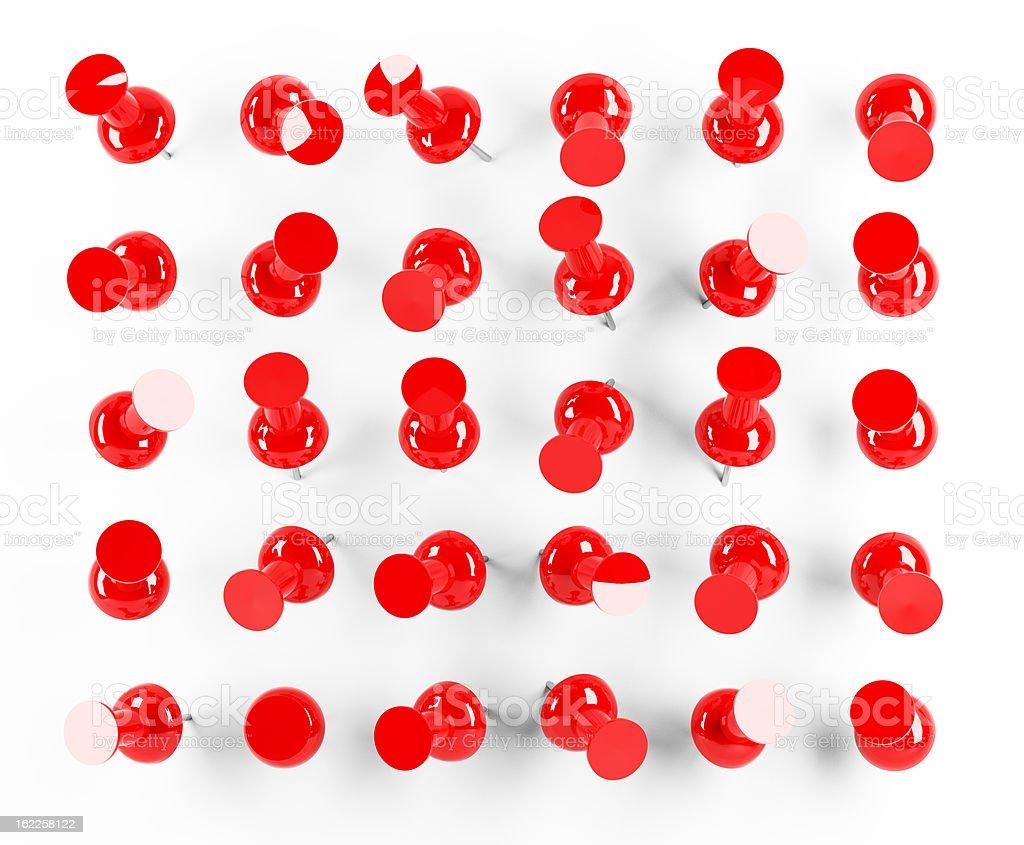 red thumbtack stock photo