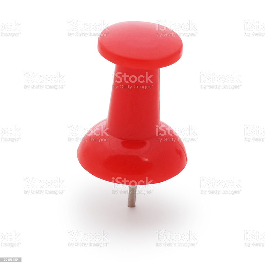 Red Thumbtack (with path) stock photo