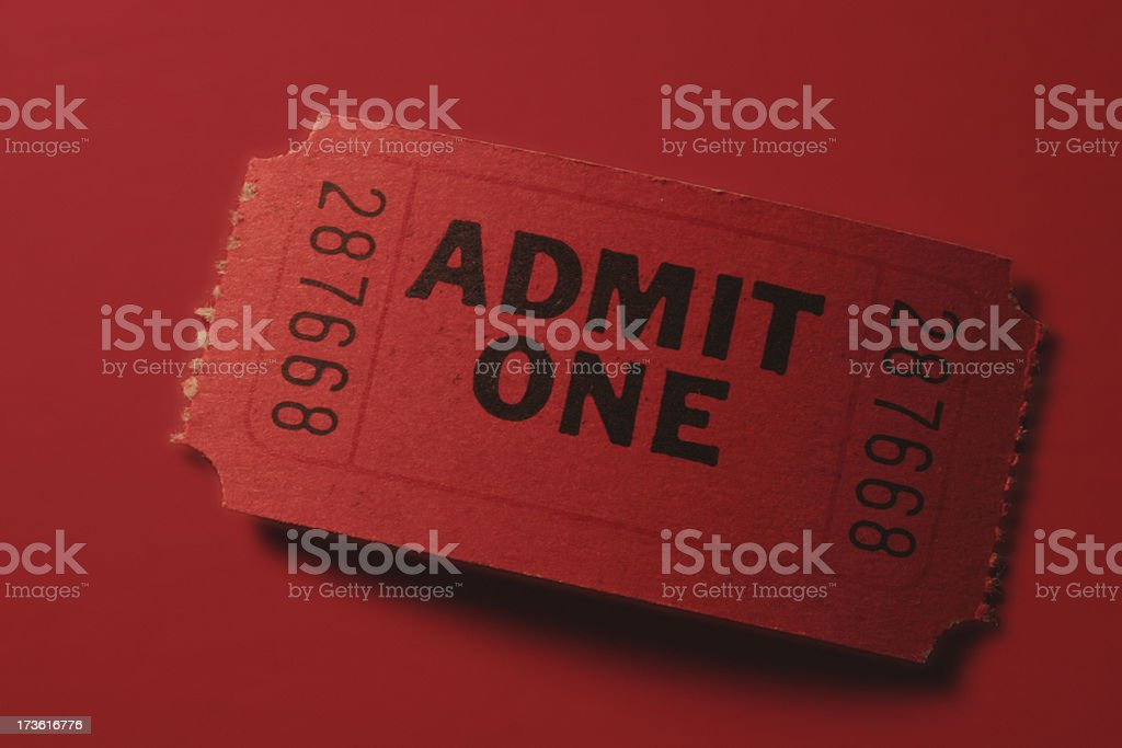 red ticket royalty-free stock photo
