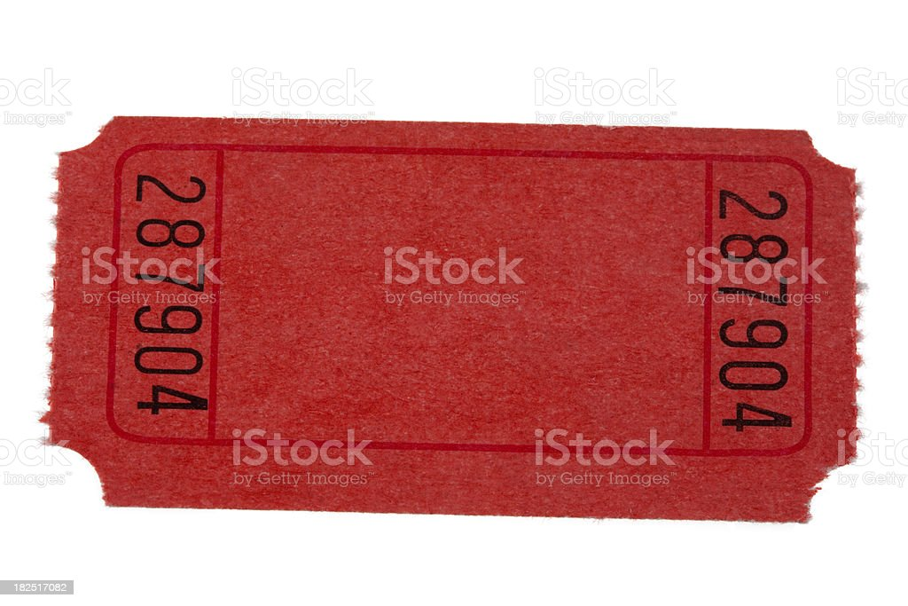 red ticket stock photo
