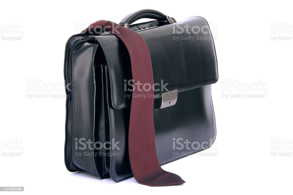 red tie and briefcase royalty-free stock photo