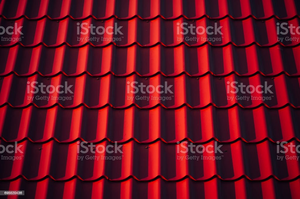 Red tile. stock photo