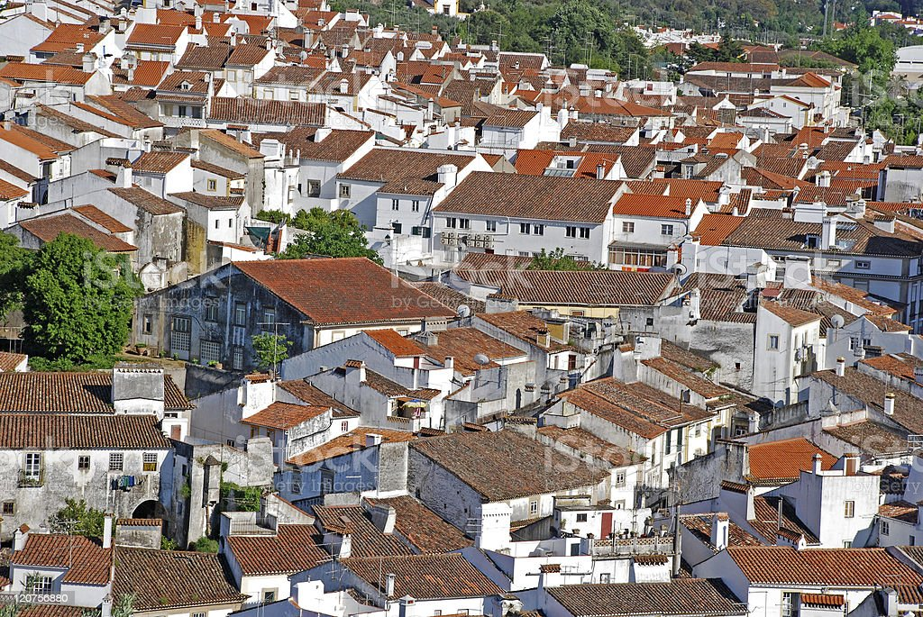 red tile roofs royalty-free stock photo