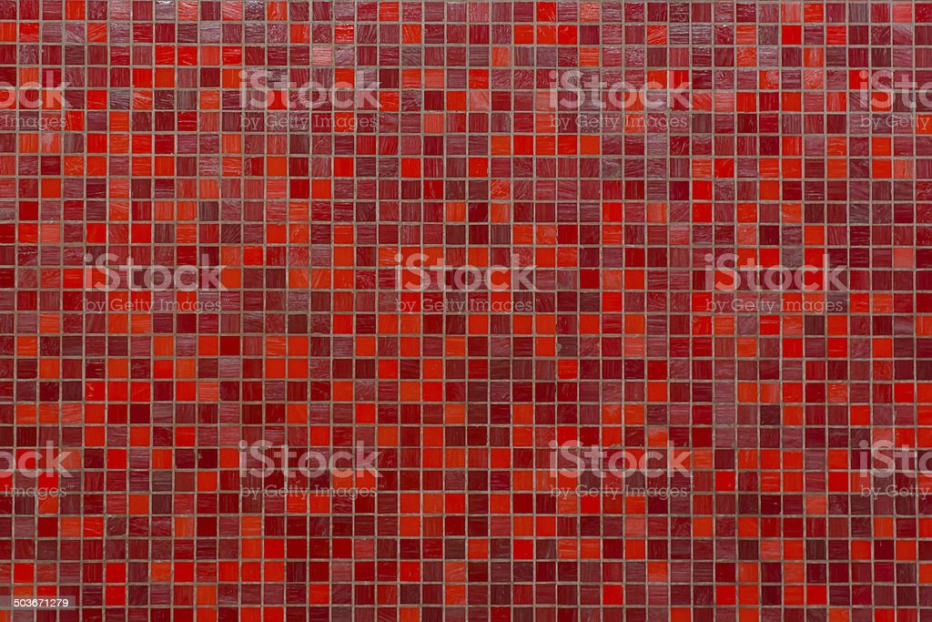red tile wall high resolution real photo stock photo