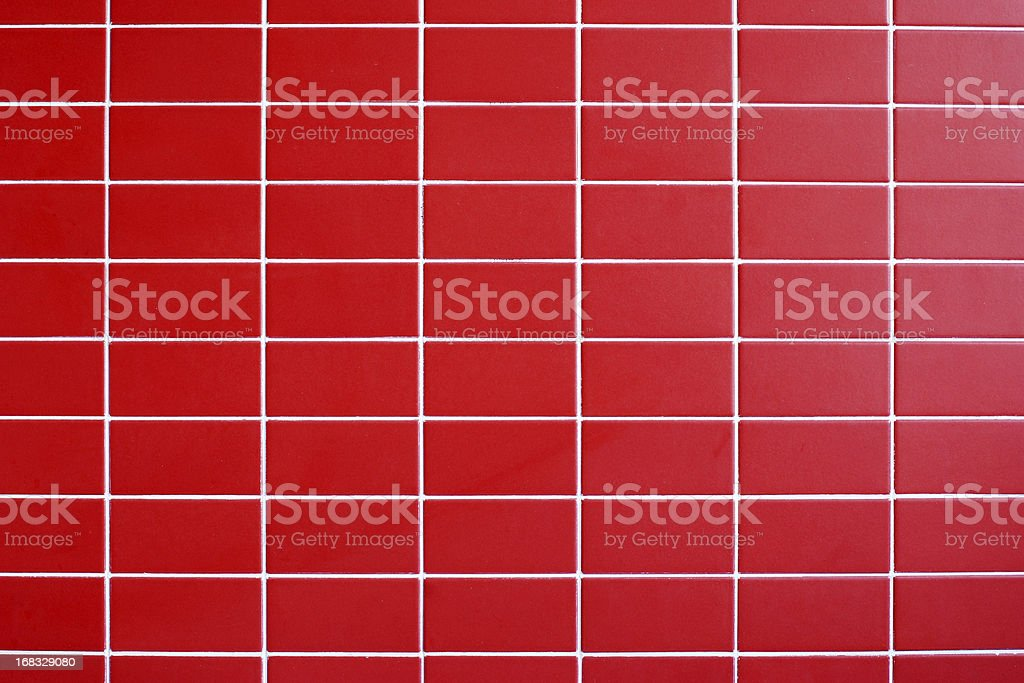 Red tile wall texture background stock photo