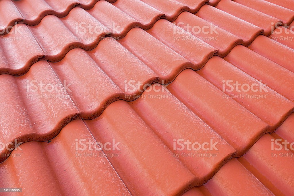 red tiled pattern stock photo