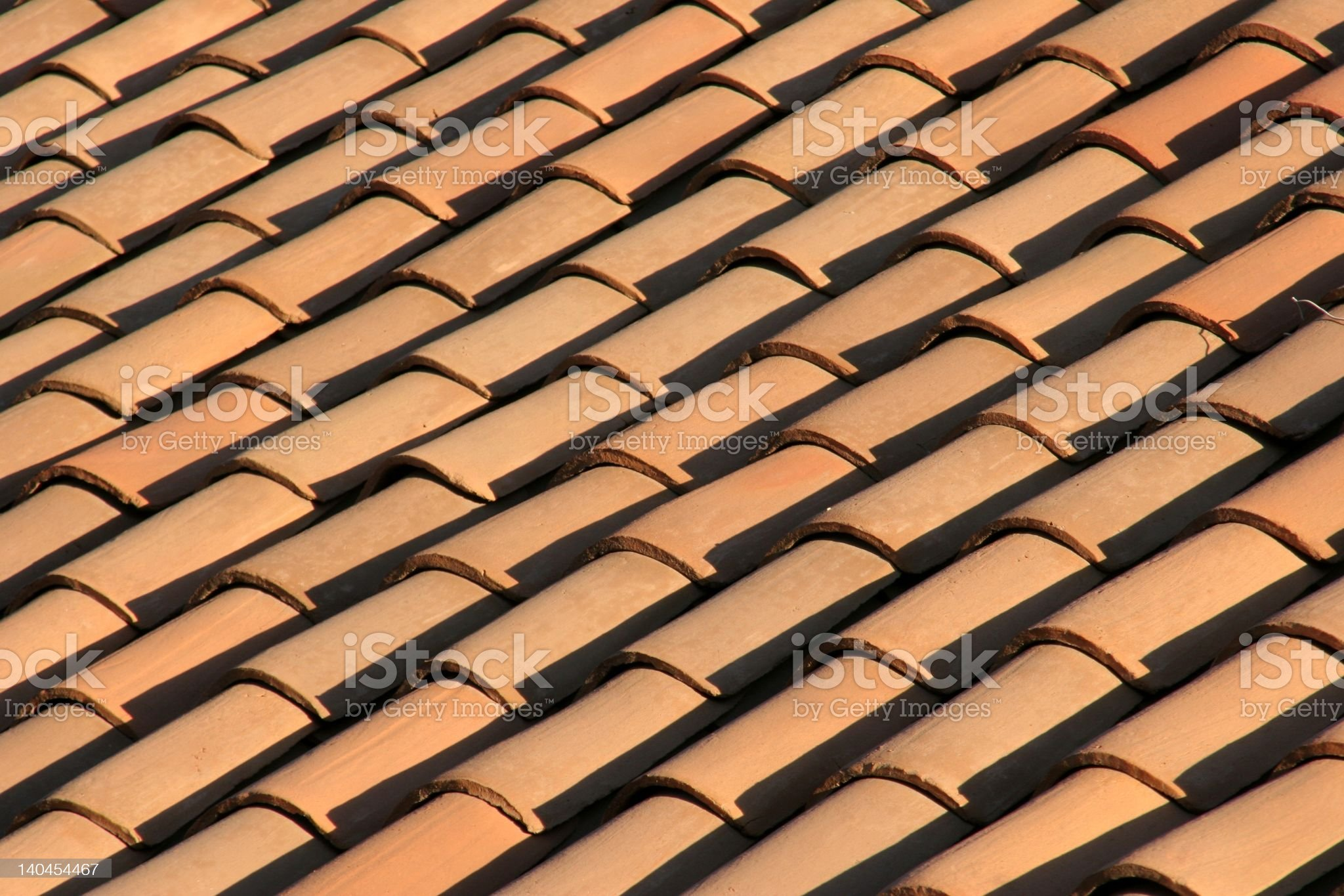 Red Tiled Roofs royalty-free stock photo