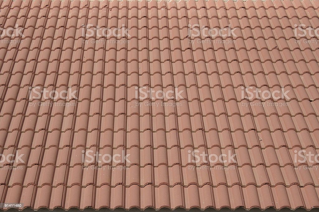 Red tiles background stock photo