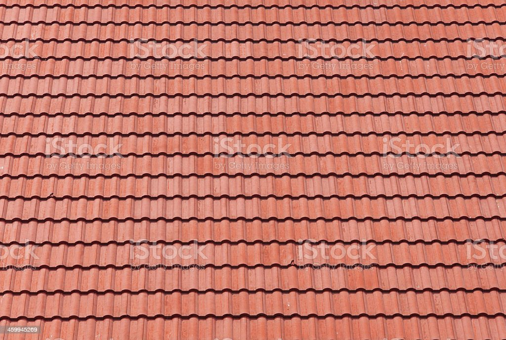 red tiles roof for background stock photo