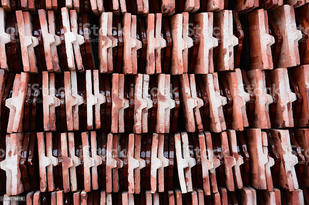 Red tiles roof royalty-free stock photo