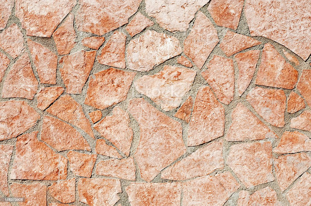 Red tiles wall royalty-free stock photo