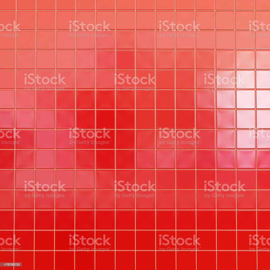 Red tiles wallpaper stock photo