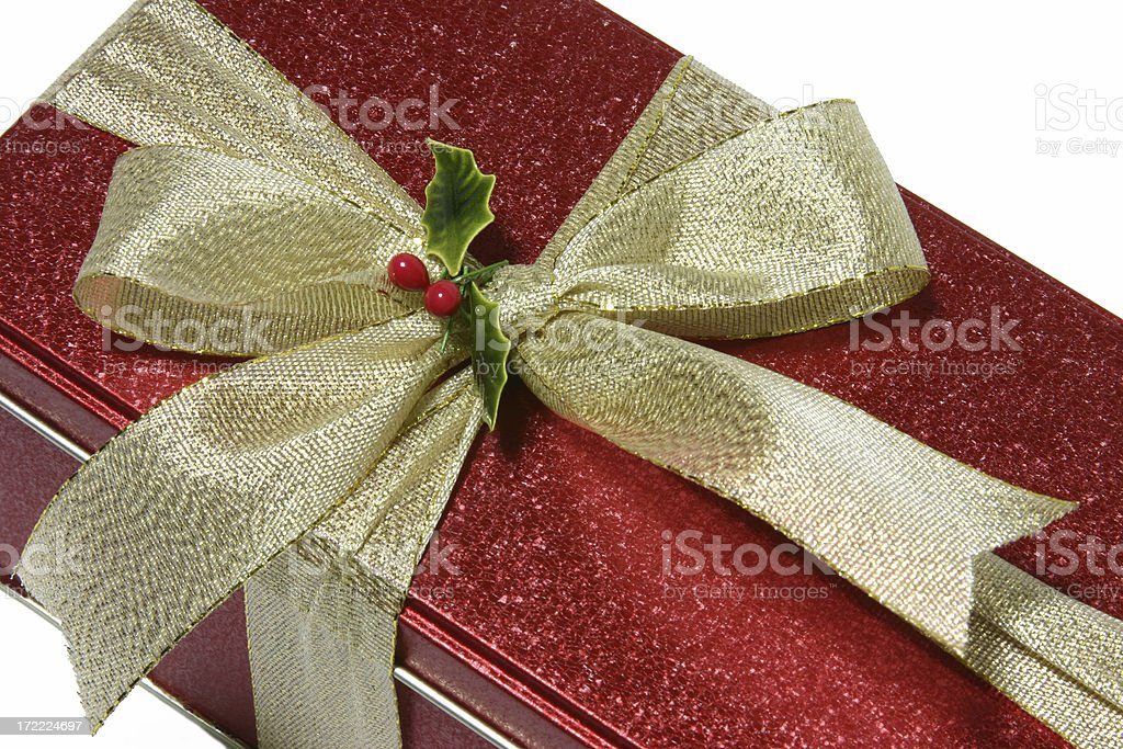Red Tin Gift Can royalty-free stock photo