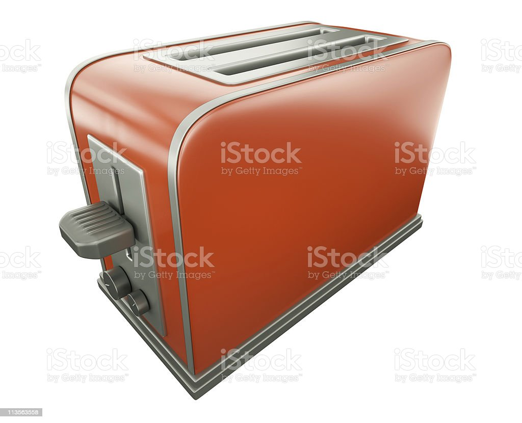 Red toaster stock photo