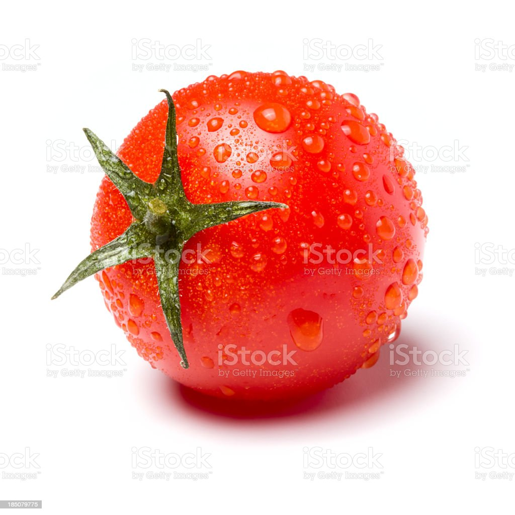 Red tomato on white background royalty-free stock photo