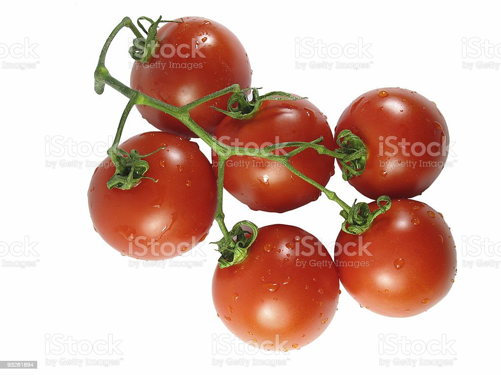 Red tomatos isolated over white royalty-free stock photo