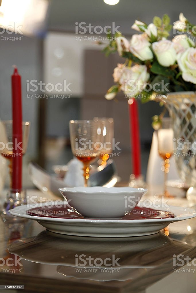 red toned modern tableware royalty-free stock photo