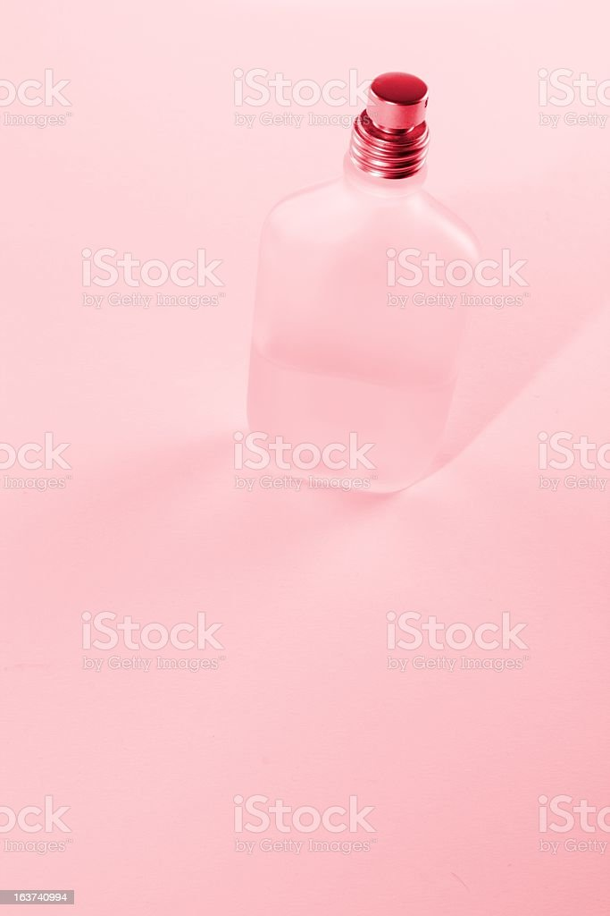 red toned parfüm bottle royalty-free stock photo