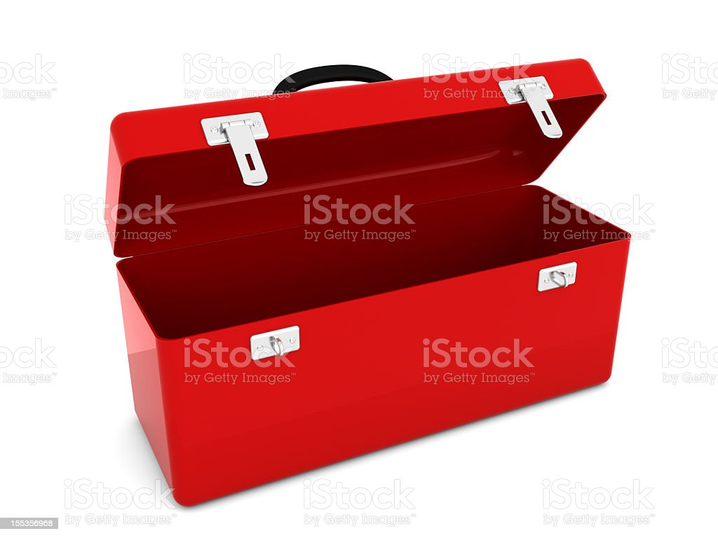 Red Toolbox royalty-free stock photo