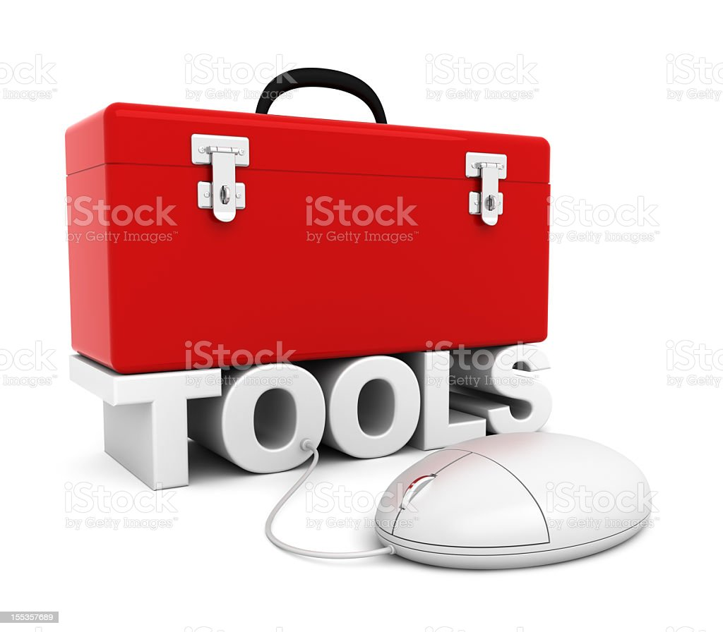 Red Toolbox stock photo